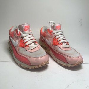 Nike Air Womens Max 90 Running Shoes Pink White La